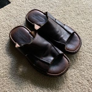 Rockport leather sandals, slides size 12